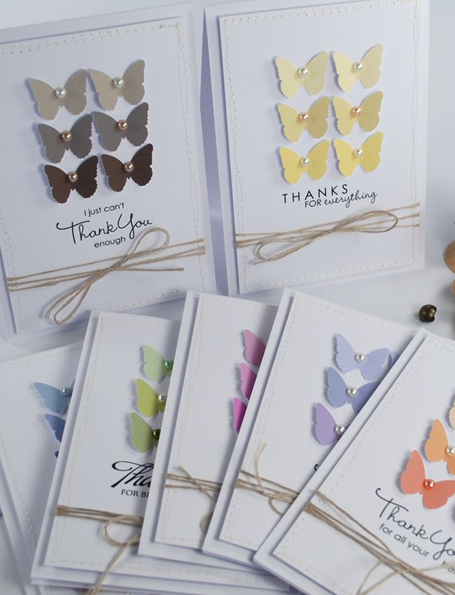 cute set of butterfly cards