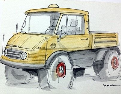 """Check out new work on my @Behance portfolio: """"Marcedes-Benz Unimog"""" http://be.net/gallery/43182981/Marcedes-Benz-Unimog"""