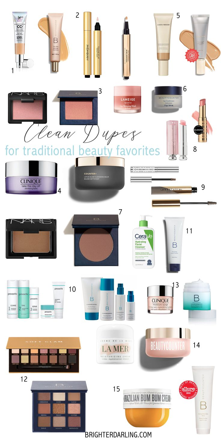 CLEAN BEAUTY DUPES For Traditional Favorites Beauty