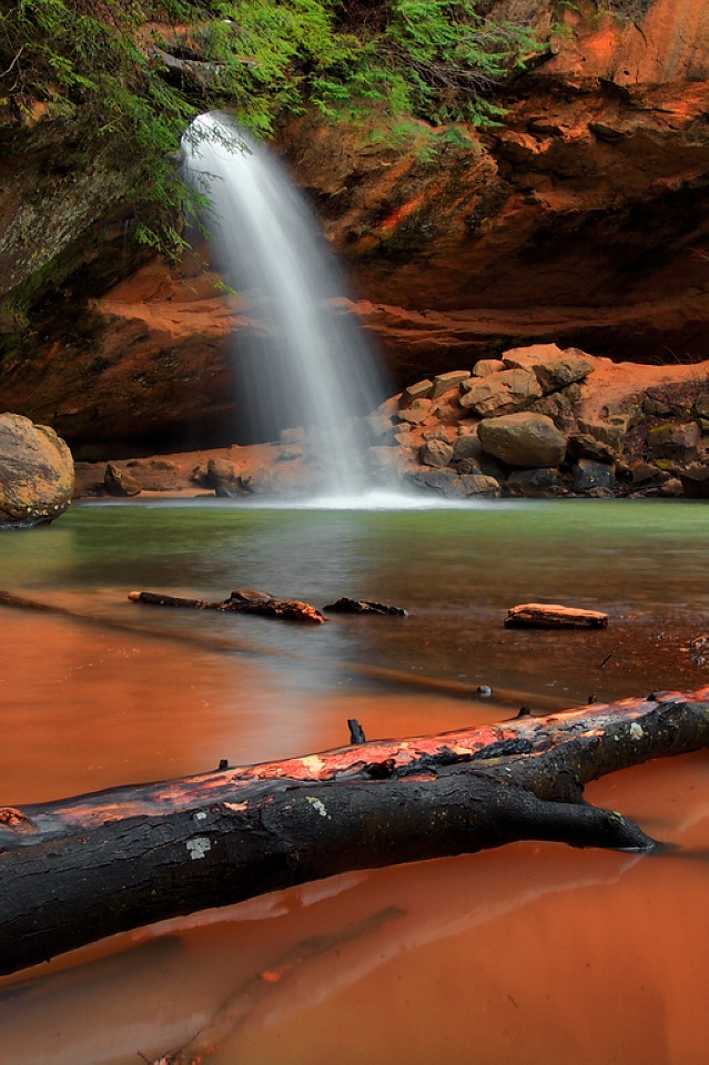 240912p1: Lower Fall, Hill States, Caves Hock, States Parks, Man Cave, Parks Ohio, Green And Orange, Men Caves, Photo