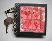 Love gives you wings - hand decorated notebook