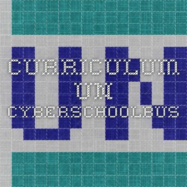 Curriculum - UN Cyberschoolbus