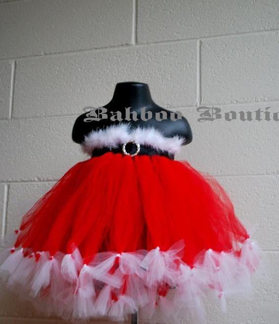 Baby Christmas Dress Baby Santa Dress Christmas Tutu Dress Holiday Outfit. $90.00, via Etsy.