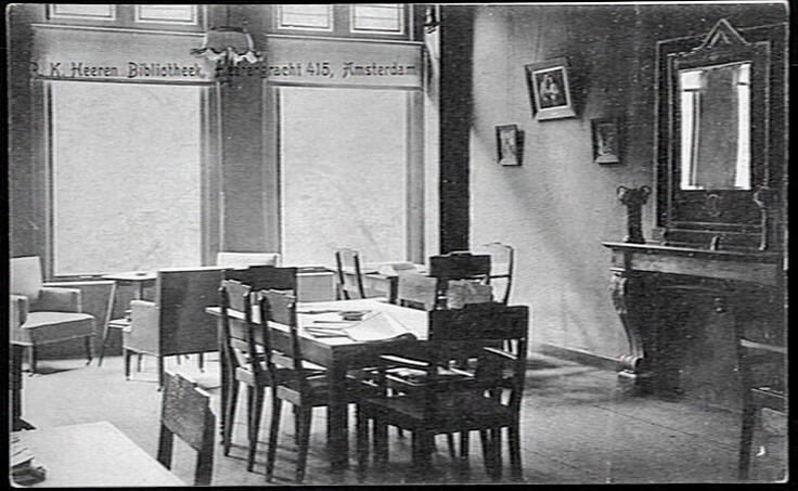 In verband met ons vijftig-jarig bestaan eind 2013, ben ik op zoek naar oude foto's van ons pand aan de Herengracht 415. h.klein@boekman.nl  Bron foto: Katholiek Documentatie Centrum