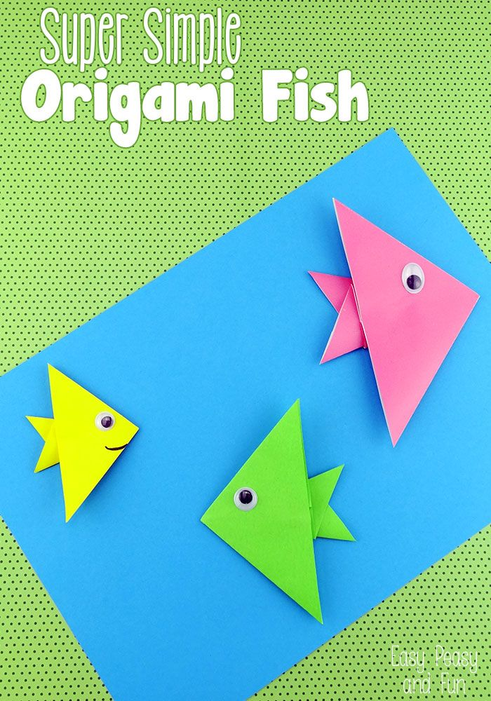 Easy Origami Fish – Origami for Kids – Easy Peasy and Fun