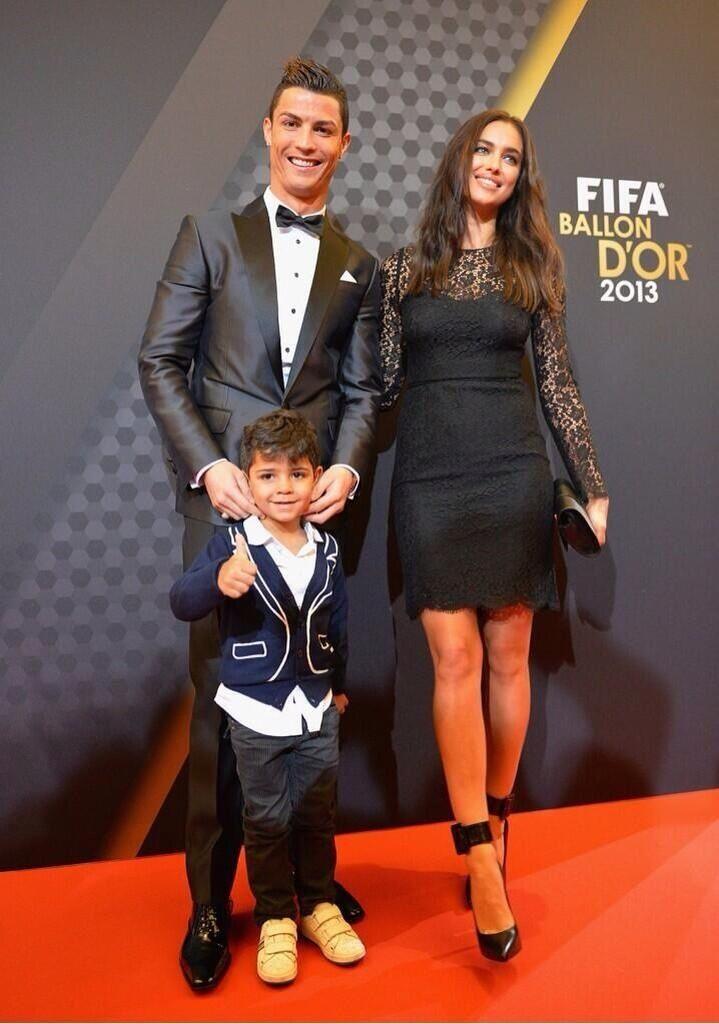 #CR7 #BallonD'Or Cristiano Ronaldo and girlfriend Irina and adorable Ronald jr