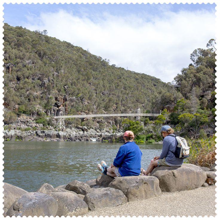 A rock with a view in Launceston, 7250. #AustraliaConnected, #Australia, #Tasmania, #Launceston, #CataractGorgeReserve, #Hiking, #Outdoors, #postcode7250, #Bridge.
