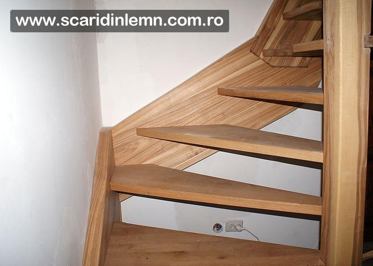 scari din lemn pret vang si trepte economice cu pas combinat