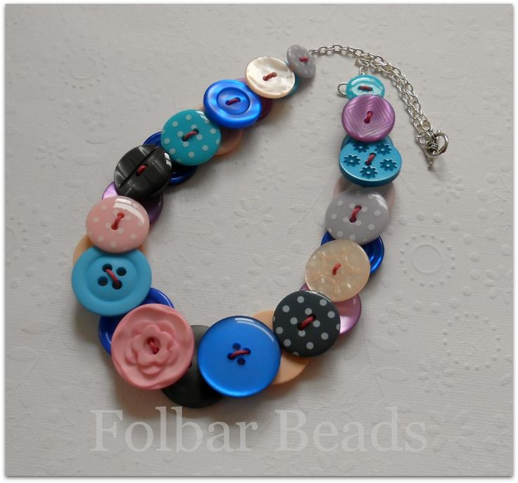 Button necklace  £15 by Folbar Beads www.facebook.com/folbarbeads