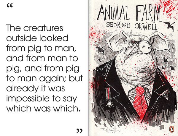 an analysis of animal farm a book by george orwell Animal farm, by george orwell - akasha classics, akashapublishingcom - mr jones, of the manor farm, had locked the henhouses for the night, but was too drunk to.