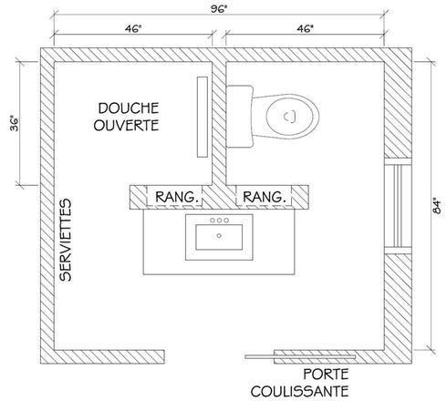 17 meilleures id es propos de salle de bain 3m2 sur pinterest d coration - Plan salle d eau 3m2 ...