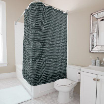 #NEW-Classic-Style's-Quiet-Teal-Modern-Bath Shower Curtain - #Bathroom #Accessories #home #living