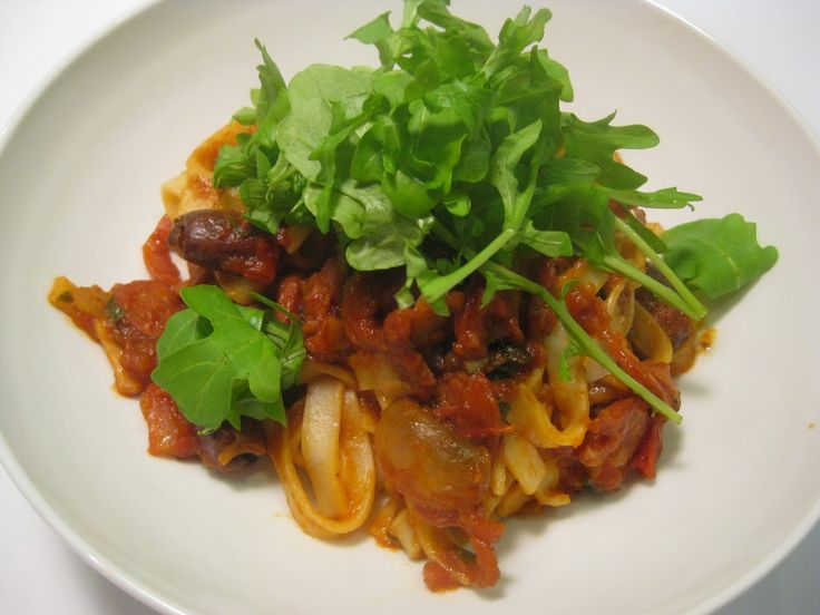 My Thermomix Kitchen - Blog for healthy low fat Weight Watchers friendly recipes for the Thermomix : Balsamic Chorizo and Rocket Fettucine