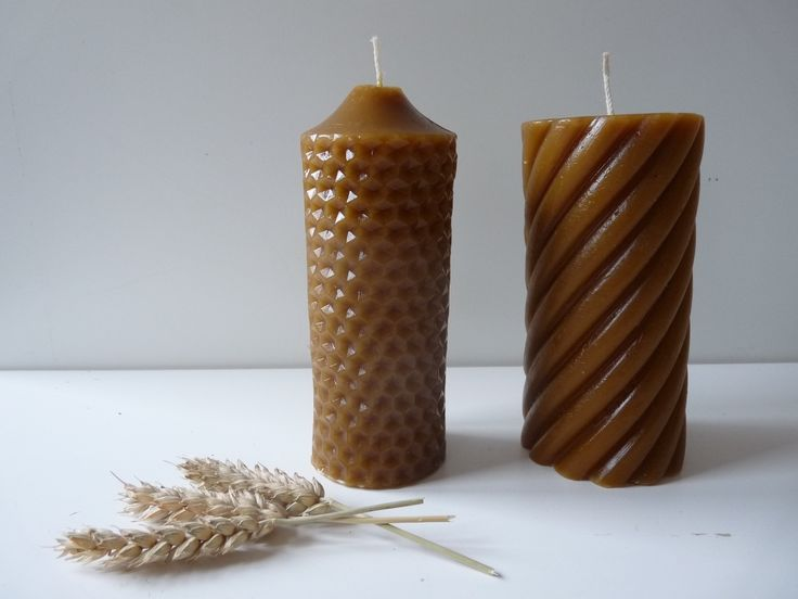2 pcs Solid Beeswax Pillar Candles, Set of Beeswax Candles, Honeycomb and Spiral Twist Candles, Cylinder pillar, gift beeswax candle Home & Living  candles  candle  Pillar Candles  Beeswax  Natural  Hand made  Honeycomb  Handmade  Solid Candle beeswax pillar  beeswax candle  cylinder  unscented