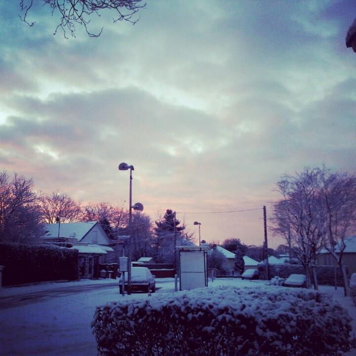 #snow #rouen #morning #sky