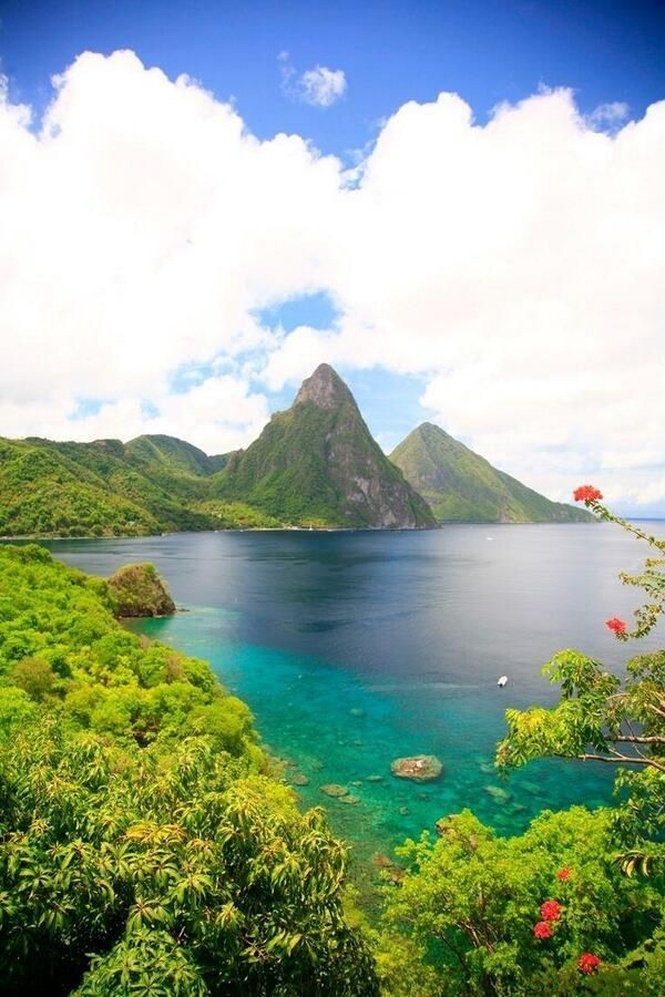 St. Lucia! The perfect place for a honeymoon. Buy that special man or women a gift from Wizkick.com #paradise