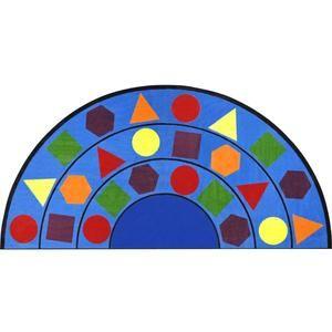 Sitting Shapes Clroom Rug Semi Circle 6 7 W X 13