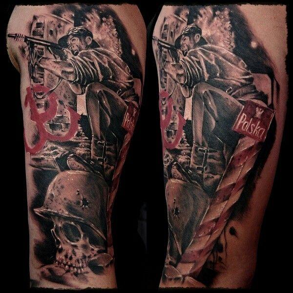 Polish warior ,patriotic tattoo, uprising