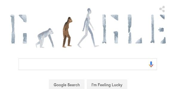 Creationists are upset about today's Google Evolution Doodle