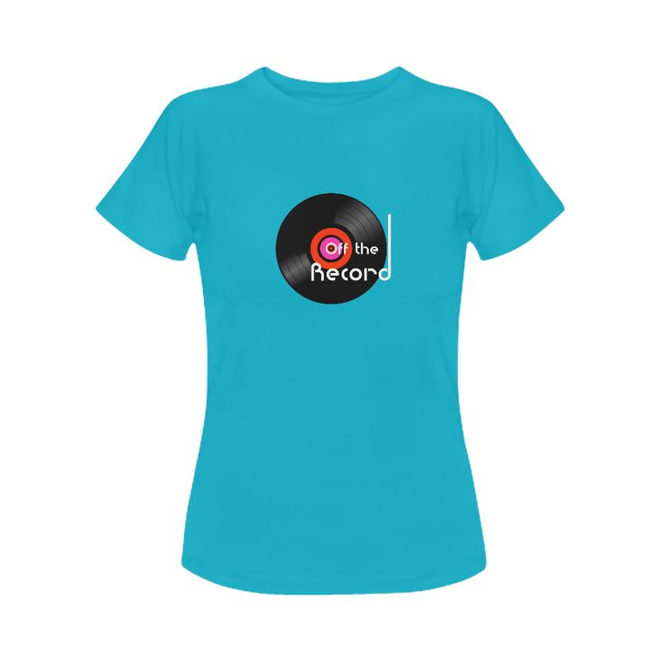 'Off The Record' Womens Tee - @artsadd #retro #vinyl #nowspinning #offtherecord #musicfan #vinylgeneration #grooves #vinylfans #designerfashion #vinylporn #blue #tshirt #clothing #records #artsadd #ladieswear #2017 #trends #cooltees #tshirtcollection #fashion