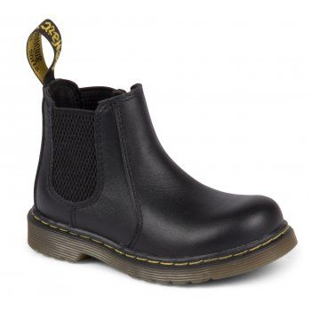 Crafted in Black or Dark Brown leathers, the Shenzi Boot was made for little rebels. The durable air-cushioned sole will withstand any amount of running and jumping and the handy Zip fastening means they're easy to pull on and off. Classic features like the yellow and black tab and yellow stitching make these an instant mini classic for the next generation. http://www.marshallshoes.co.uk/childrens-c20/dr-martens-kids-boys-shenzi-black-ankle-boot-16704001-p3209