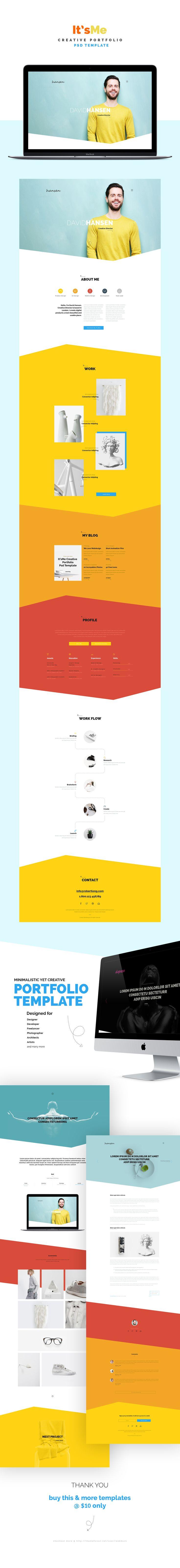 It'sMe - Creative Portfolio PSD Template 3 on Behance