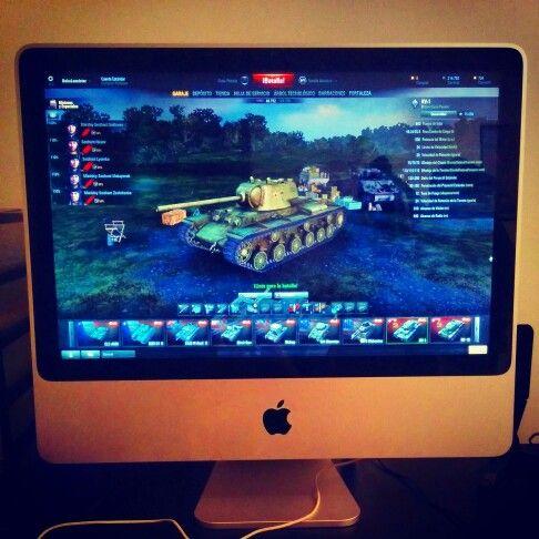 World of Tanks for Mac. El tanque en pantalla es el KV-1. Un bicho de tanque, en la realidad y en el juego.