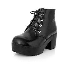 #Banggood Новые ботинки женщин шнуровке Пу комфортно высокой пятки лодыжки короткие сапоги (1025282) #SuperDeals