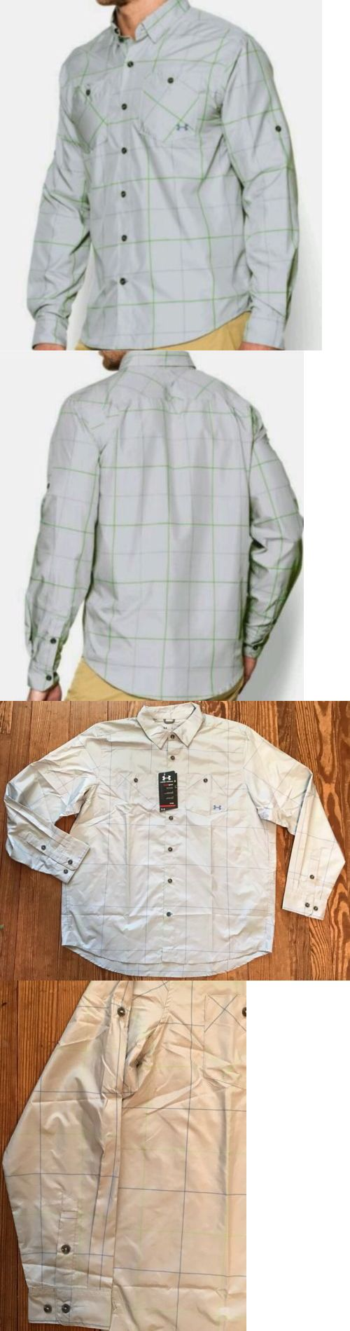 Shirts and Tops 179982: Nwt Men S Under Armour Chesapeake Plaid Long Sleeve Fishing Shirt Sz Xl Hydro -> BUY IT NOW ONLY: $35.99 on eBay!