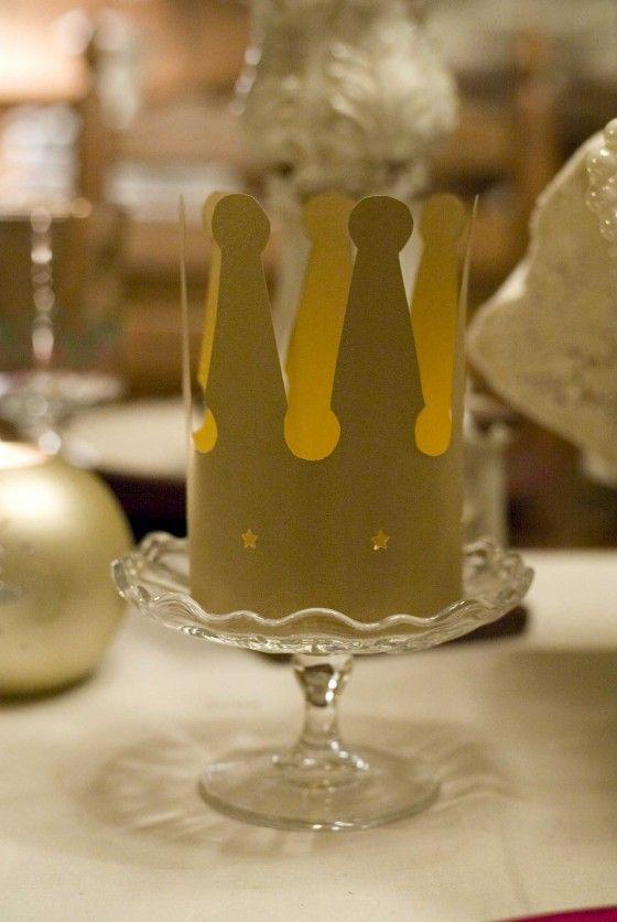 """DIY crown tea lights.  """"We Three Kings..."""" :)"""