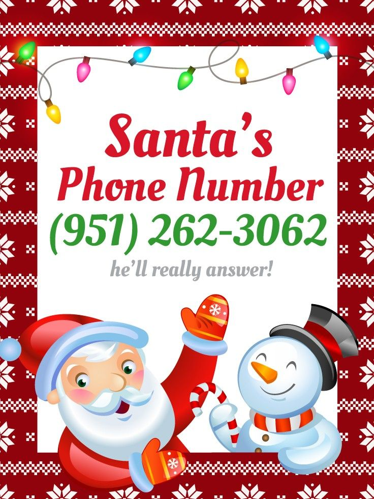 Santa's Phone Number: How To Call Santa Claus!