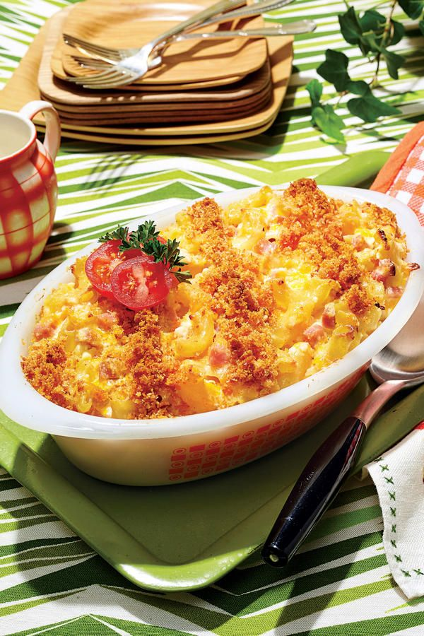 Macaroni and Cheese - Top-Rated Macaroni and Cheese Recipes - Southernliving. Recipe: Macaroni and Cheese Longing for macaroni and cheese like Mom used to make? Try this version that we were loving in the 80s–and still can't get enough of today. Cottage cheese and sour cream make for an extra creamy casserole, playing nicely off of the sharp, shredded Cheddar cheese. Cubes of ham stirred into the casserole give this macaroni and cheese heft, truly making it a one-dish dinner. Final touches?…