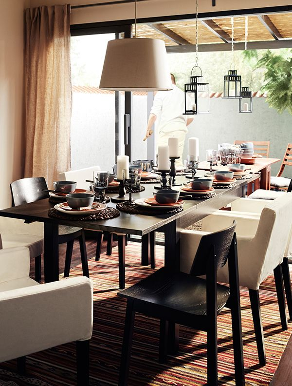 Interesting Dining Room Tables Impressive Hosting Guests For The Holidays The Ikea Bjursta Extendable Decorating Inspiration