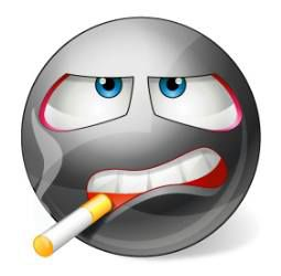 Smoking smiley For those times when you're just laying low and feeling cool, post this smiley on your timeline!
