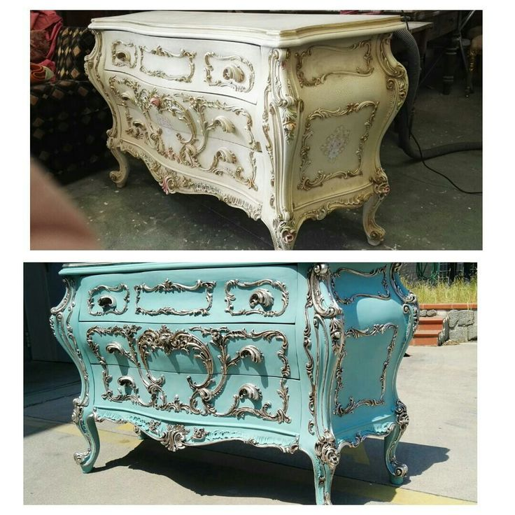 Louis xv baroque bombe chest makeover before after