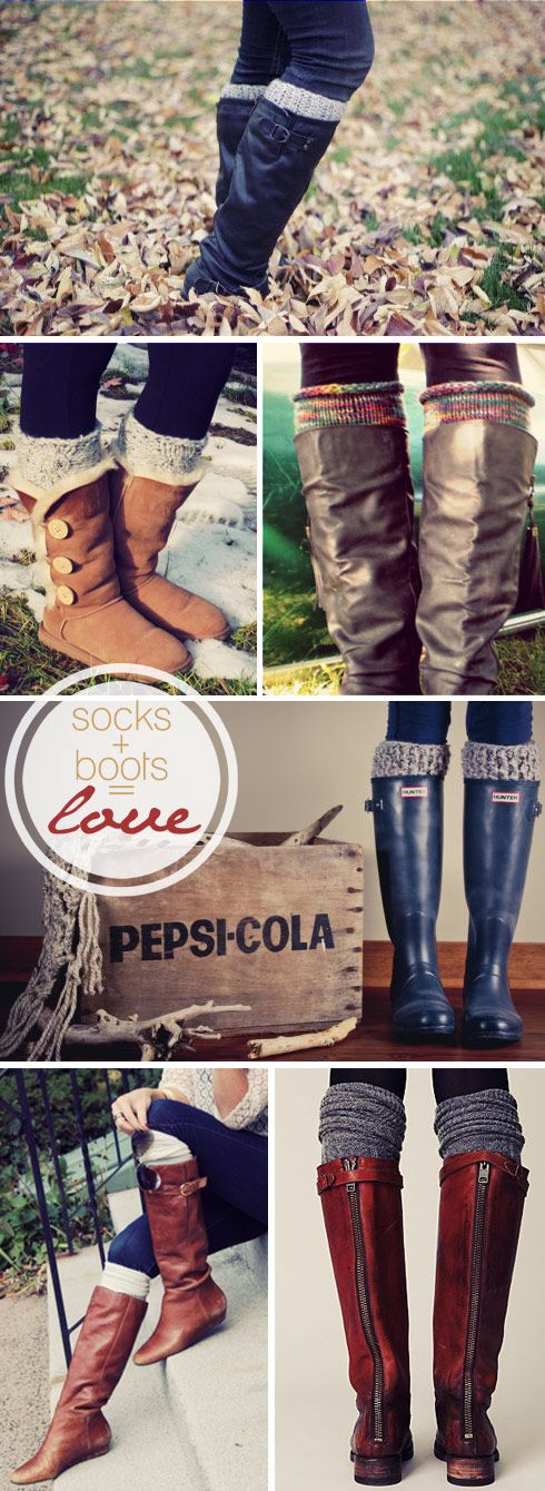 Legwarmers + Boots = perfect look for a winter outdoor event!