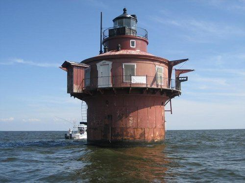 A 144-year-old lighthouse, two miles off of North Point State Park, is up for sale to the highest bidder.