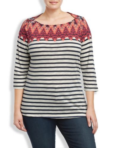 IKAT BOAT NECK TOP - LuckyBrand