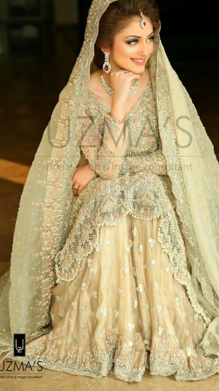 A personal favorite from my Etsy shop https://www.etsy.com/listing/384380332/pakistani-bridal-dress-pastel-green-and