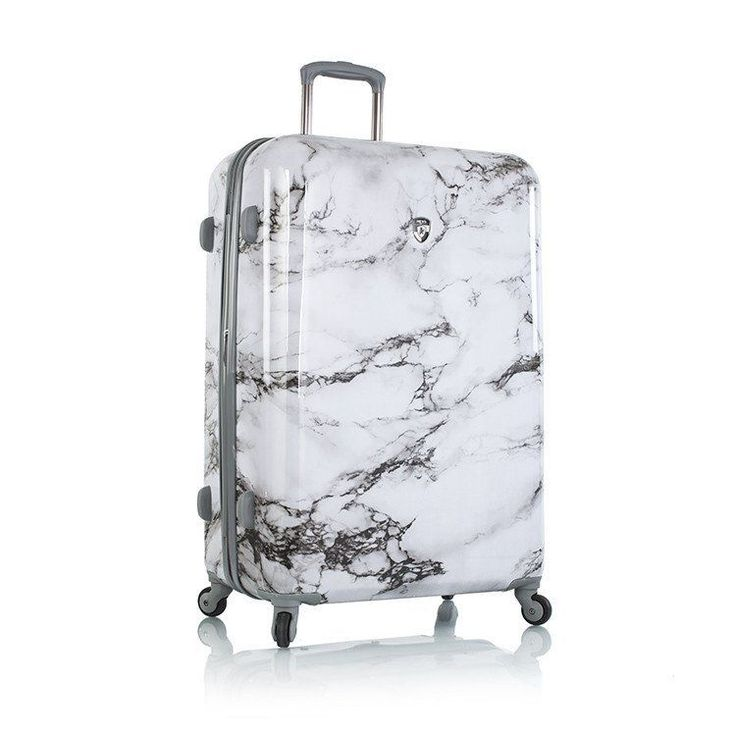 "Heys Luggage Bianco 30"" Suitcase Fashion Spinner White Hardcase #Heys"