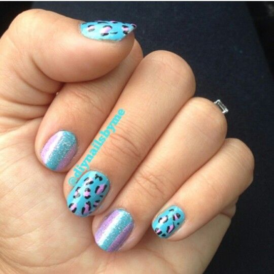 53 best nails i have done myself images on pinterest bricolage diy blue cheetah nails solutioingenieria Choice Image