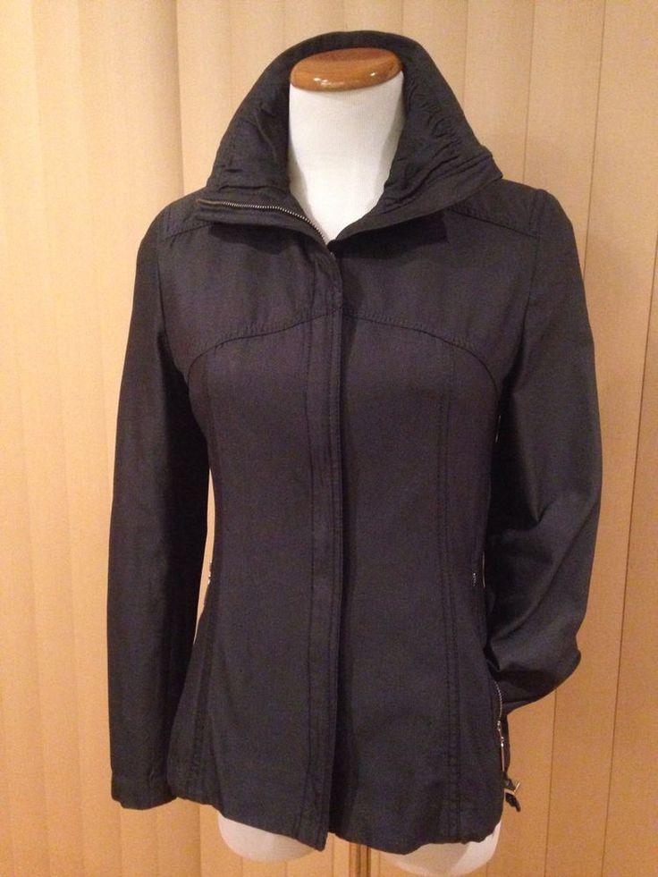 Javier Simorra Barcelona Jacket Charcoal Gray Canvas Zip Up Size 4 #JavierSimorra #BasicJacket