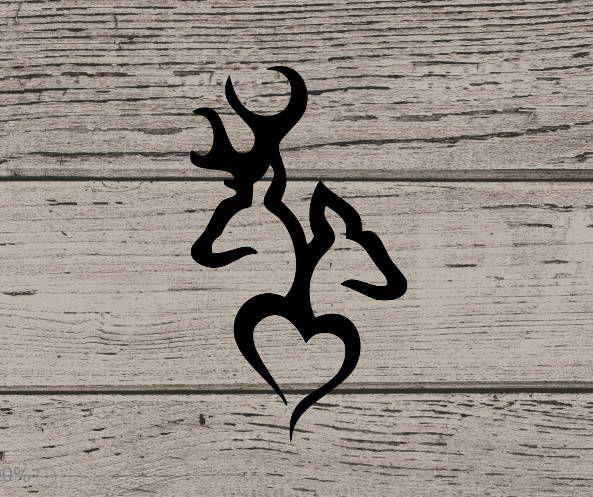 Browning Inspired Deer Couple Yeti Decal, Yeti Tumbler Decal, Yeti 30 oz Sticker, Yeti Sticker, Vinyl Decal, Vinyl Sticker, Browning Decal by WendyJDesigns on Etsy
