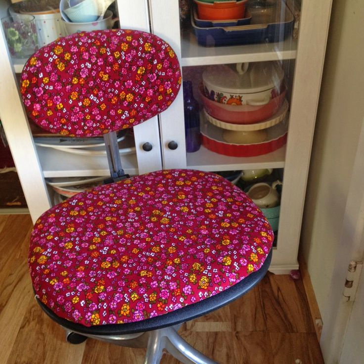 Upcycled hard rubbish - chair reupholster 10 minute job Velvet floral- simmone star