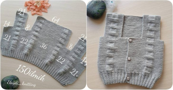 3 – 6 aylık bebek yeleği yapılışı ile karşınızdayız. Yeleğin ilmek sayılarını ve nasıl yapıldığının resimlerini sizler için sitemizden paylaştık. Bu bebek yeleği modelinin ilmek sayıları ortalama 3 – 6 yaş aralığındaki bebekler içindir. Örnek elaydi_knitting sayfasından alıntıdır. Emeği için kendilerine çok teşekkür ederiz. Merhaba arkadaşlar. Yeni bir yelek başladım. Aşağı 3/6 aylık bebeğe, ipim