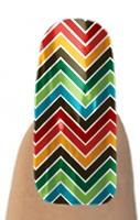 Multi Color Chevron Jamberry Nail Shields, Nail Wraps - Buy Jamberry Nails