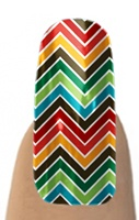Jamberry Nails- Multi Color Chevron (for my toes)