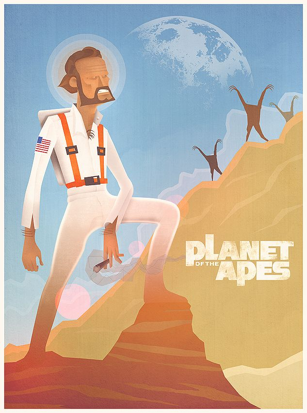 Planet of the Apes - Retro Poster by ~stayinwonderland