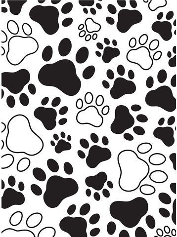 Product Darice® Embossing Essentials 4.25 x 5.75 inch Embossing Folder - Paw…
