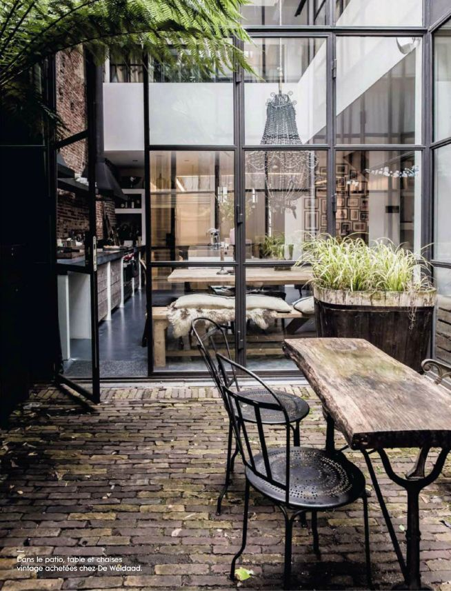 Industrial but minimalistic outdoor space